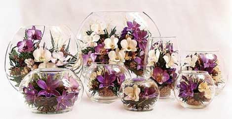 Цветы в стекле на 8 марта