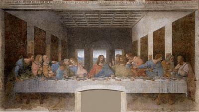 Чистый четверг, Господь Иисус Христос тайная вечеря Леонардо да Винчи фреска