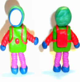 космонавт из пластилина фото