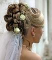 Свадебная прическа под фату для невесты 22