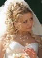 Свадебная прическа кудрявые длинные локоны 25